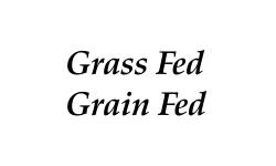 Grass Fed - Grain Fed